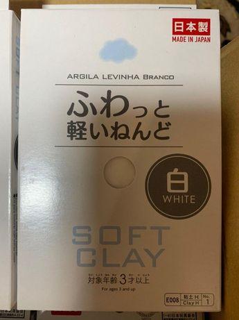 Глина японская белая Daiso Soft Clay