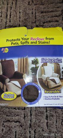Накидка на кресло двухсторонняя