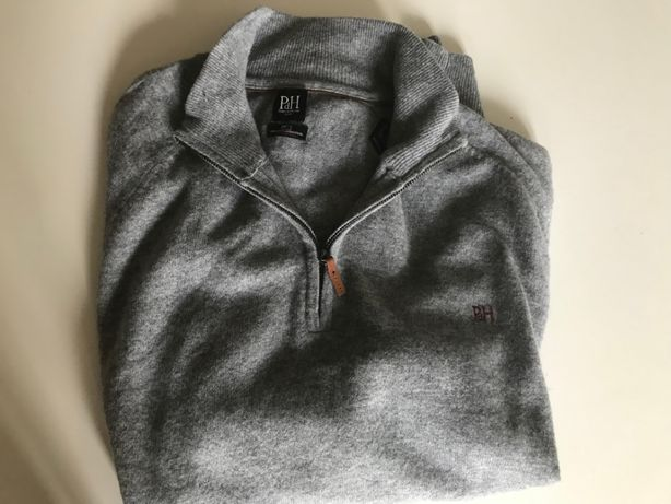 Camisola de malha Pedro del Hierro tam XXXL cinzenta clara