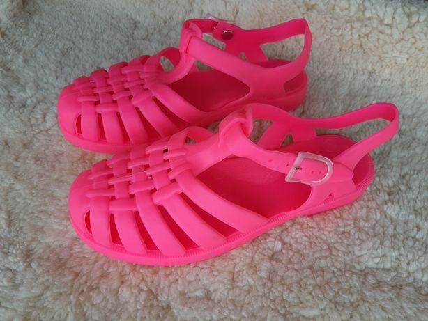 Sandały 35 Meliski Różowe Neon Buty Letnie