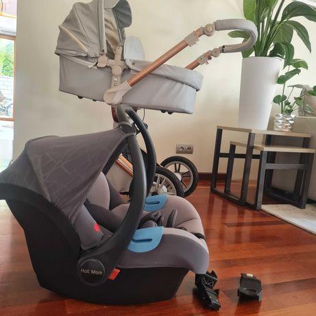 Luksusowy wózek HOT MOM 3w1-GRATISY !!!