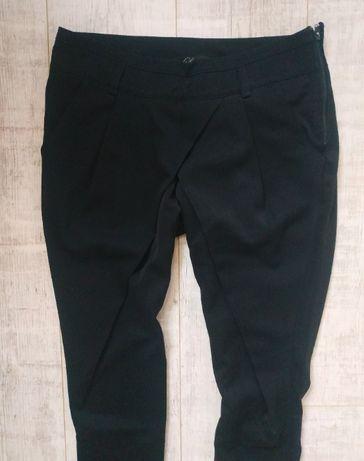круті оригінальні жіночі штанці чорного кольору, з карманами, на блис