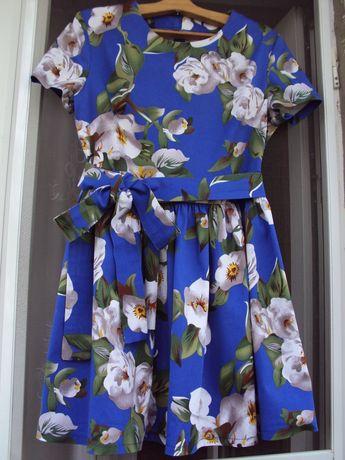 новое милое платье натуральная х/б ткань для девочки, девушки