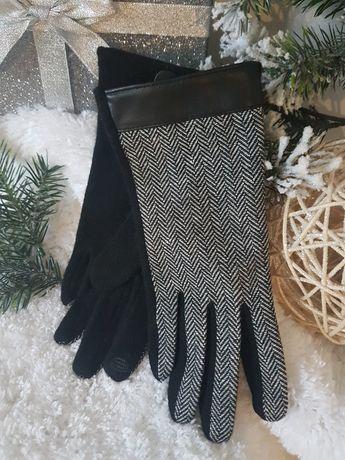 Eleganckie rękawiczki damskie rozm.M/L z wełną