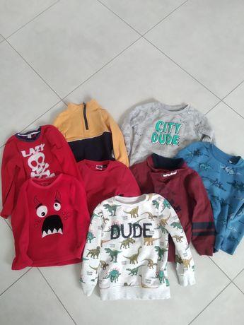 Bluzy bluza 116 dla chłopca paka zestaw 8 szt.