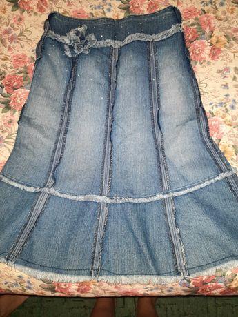 Джинсовая юбка модная