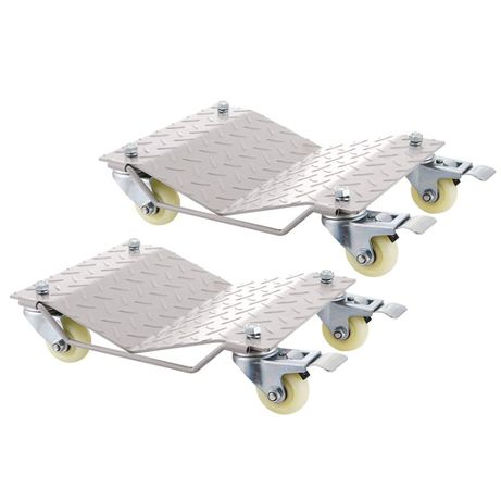 Conjunto de quatro (4) Patins/ Bases/ Suportes móveis/ rolantes