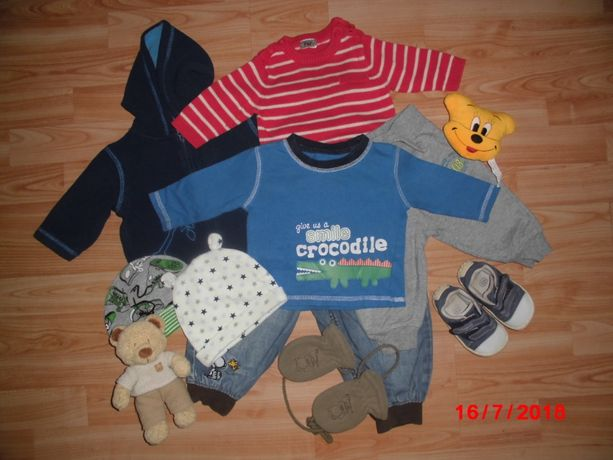 Распродажа.Пакет одежды для мальчика с 0_18 мес. Всего 15 вещей.