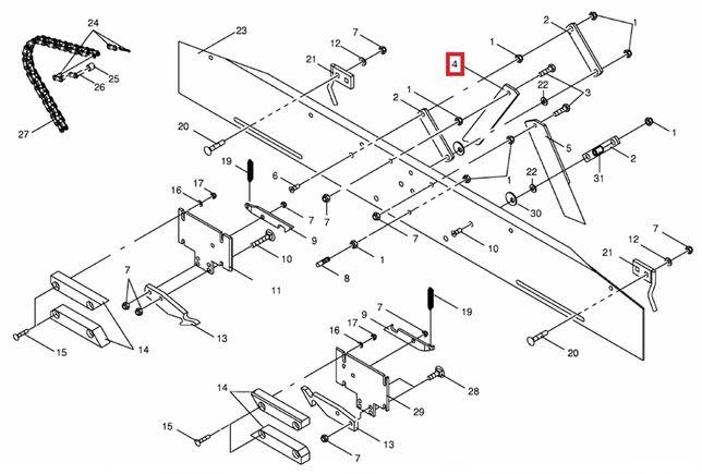 Nóż Prawy 275629.4 aparatu sznurka Krone KR 125/130/155/160 Bellima