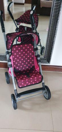 Wózek dla lalek różowy