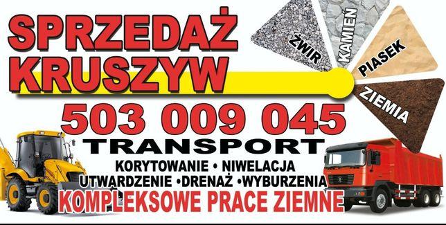 Transport Kruszywo Kamień Łamany Tłuczony Koparka Żużel Szlaka