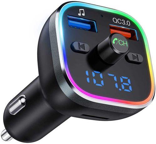Transmissor FM Bluetooth Vic Tech Leitor MP3 Duplo USB (NOVO)