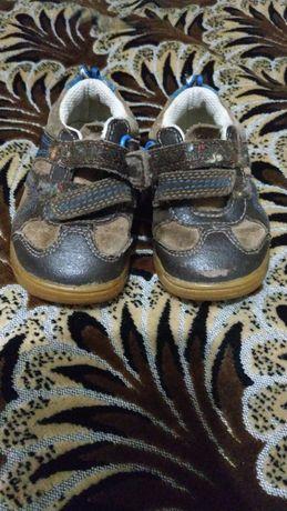 Детские кожаные туфли Clarks, uk 4,5, КОЖА, б/у