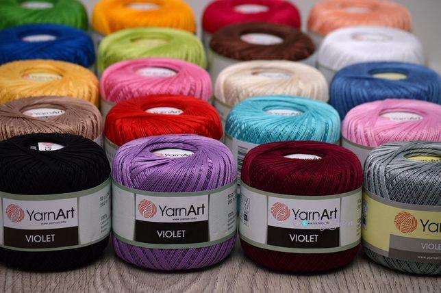 Распродаю! ЯрнАрт Виолет (YarnArt Violet) пряжа 100% хлопок купить