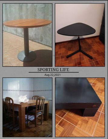 Mesas de centro/refeição/redonda