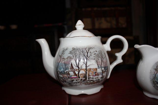 vintage komplet porcelanowy