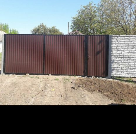 Забор еврозабор,ворота,навесы, калитки от производителя под ключ.