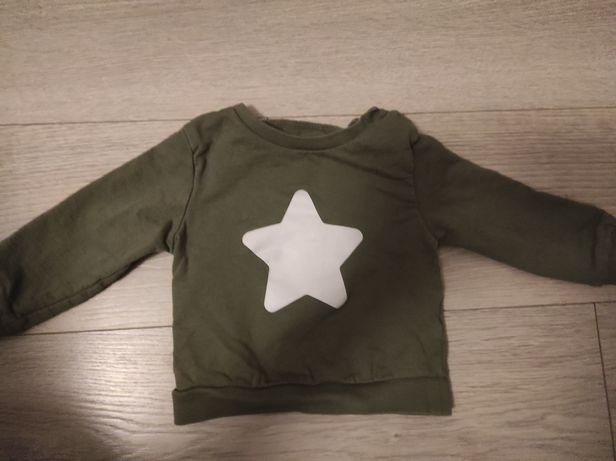 Bluza Sinsay 74 zielona khaki