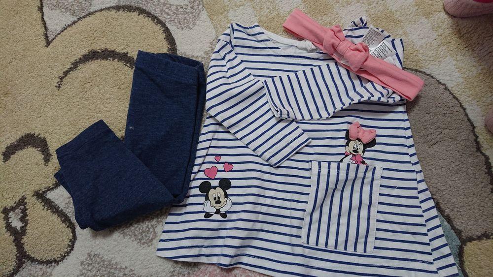 Komplet h&m 68, bluzka, spodnie, opaska Robakowo - image 1