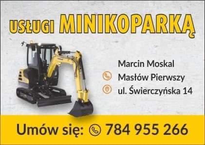 Usługi Minikoparką  2,7 t / transport do 3.5 t