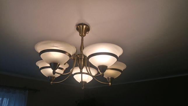 Lampa do salonu 5 kloszy