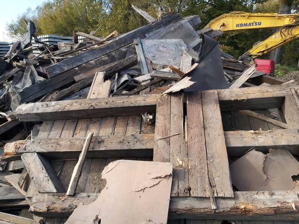Drewno opałowe z rozbiórki