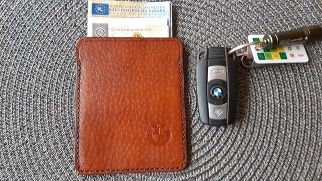 BMW Okładka etui na dowód rejestracyjny edc skóra naturalna
