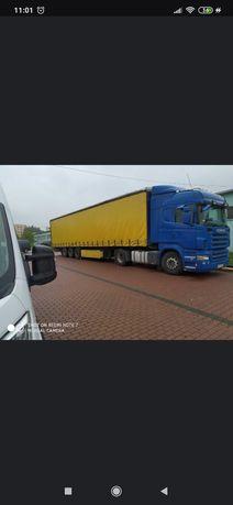 Transport TIR firanka lub wywrotka Scania Man daf