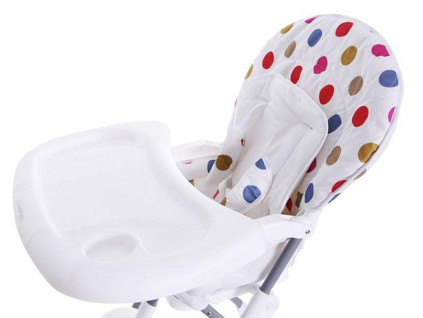 Eco toys krzesełko do karmienia dla dziecka kropki