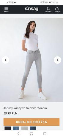 Nowe Spodnie skinny Sinsay rozm. S