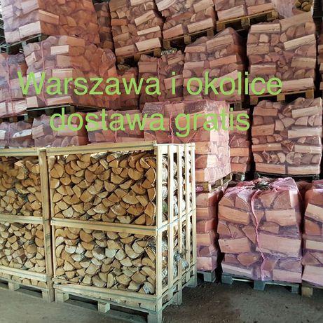 Drewno kominkowe opałowe dąb brzoza buk grab Warszawa mazowieckie