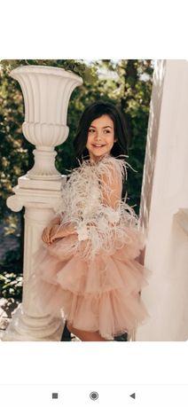 Шикарное нарядное  платье на выпускной 130 см