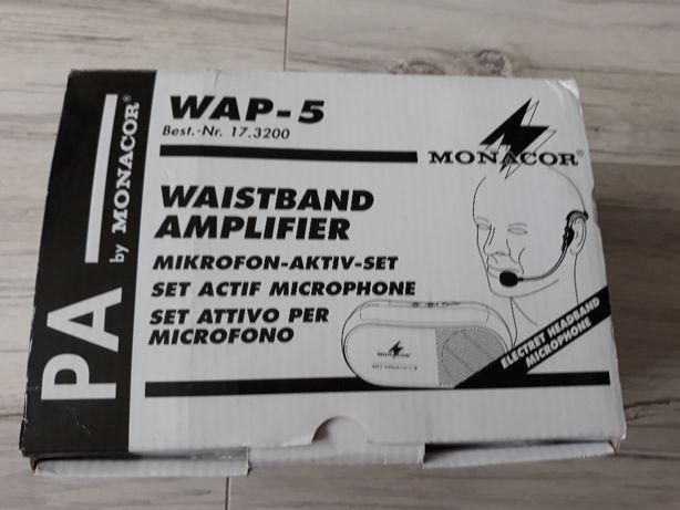 Wzmaczniacz głosu MONACOR WAP-5 z Mikrofonem mikrofon nowy