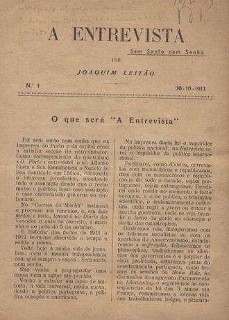 A Entrevista - Joaquim Leitão