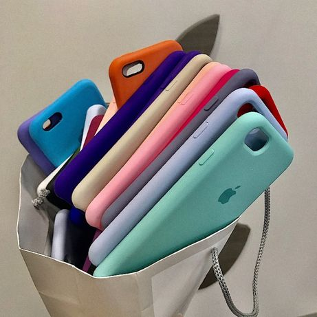 Чехол Silicone Case для iPhone 5/6/7/8/8+/xs max/Xs/Xr/11/Pro/Max