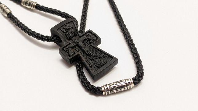 Крест нательный из дерева эбен