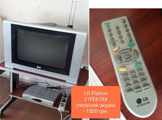 Телевизор LG Flatron 21FE61RX + спут. тюнер STAR TRACK 550D Super Plus