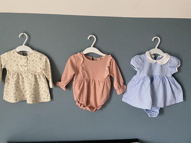 Sukieneczki Zara H&m roz.62-68