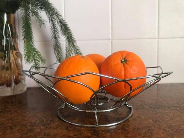 Фруктовница нержавейка металлическая ваза кошелка для фруктов