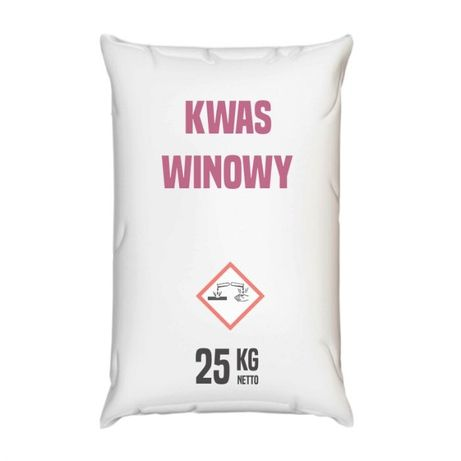 Kwas winowy 1000 kg paleta, Tartaric acid, Винная кислота