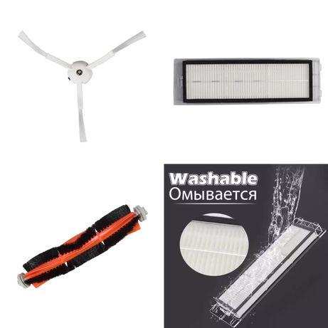 Акция3+1,Hepa фильтр, основная и боковая щетки для Xiaomi vacuum clean