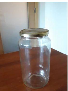 vários frascos vidro grandes 985ml com tampa (para 1,4kg mel)
