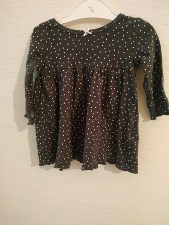 Платье carter's черный в горошек 0-3 месяца 0059