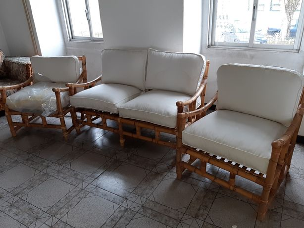Conjunto sofás Bambu e Vime