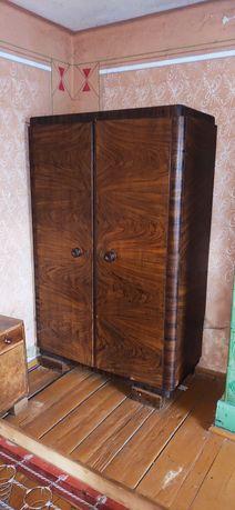 Szafa, lite drewno, zabytek, garderoba, duża, retro PRL,