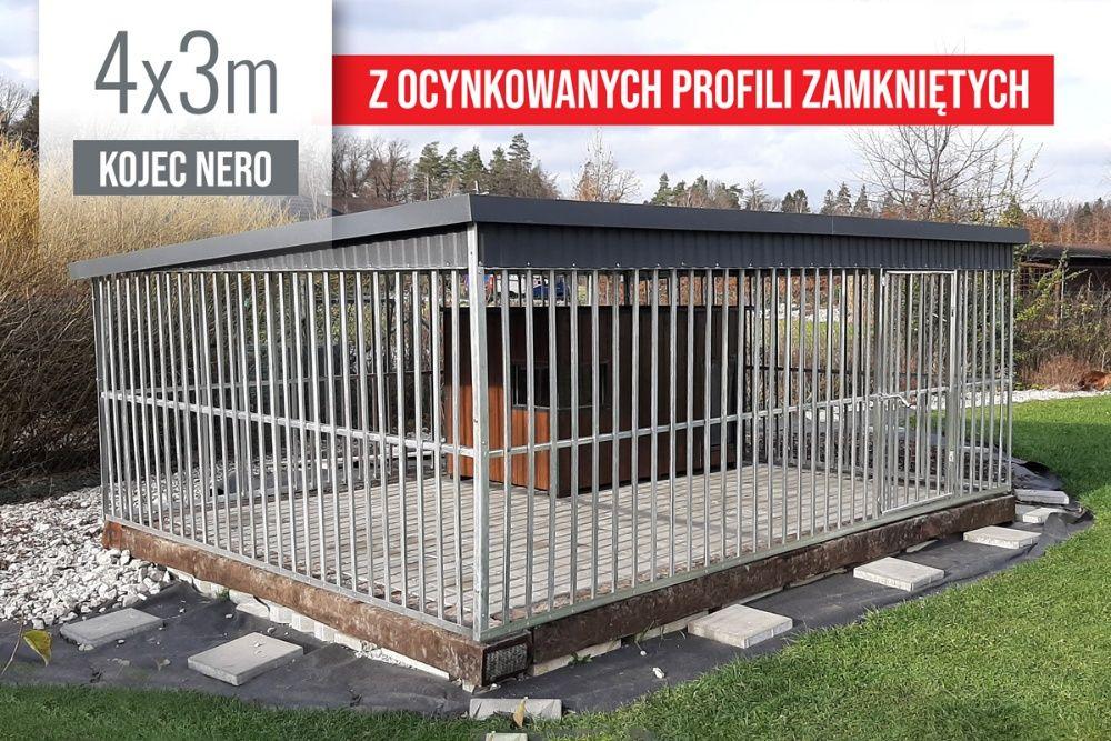Kojec dla psa NERO ocynkowany 4x3m wzmocniony PRODUCENT różne wymiary Bydgoszcz - image 1