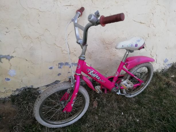 Dziecięcy różowy rower 16'