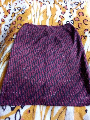 Красивая трикотажная юбка с люрексом 52 размер