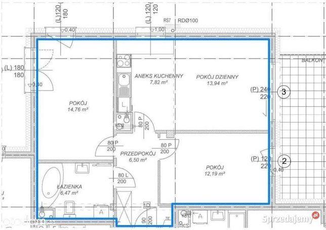 Nowy lokal 62 m2  na kancelarię / biuro, 50 m od Plazy, parking