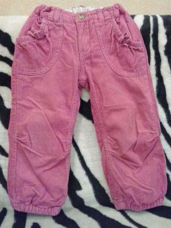 Вельветовые брюки для девочки 2-3 года